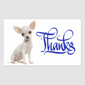 Thank You Chihuahua Puppy Dog Stickers