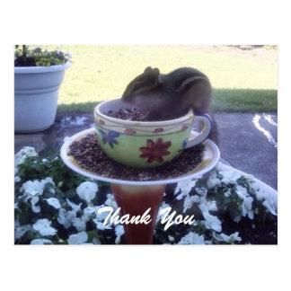 """Thank You"" Chippy the Chipmunk Postcard"