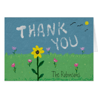 Thank You Clouds Card