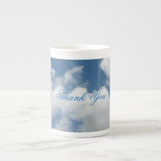 Thank You Clouds China Mug Bone China Mug