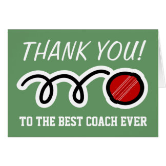 Thank you coach | cricket greeting cards