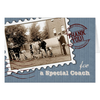 Thank You Coach. Customizable Greeting Card
