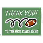 Thank you coach | football greeting cards