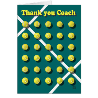 Thank you Coach personalised Card