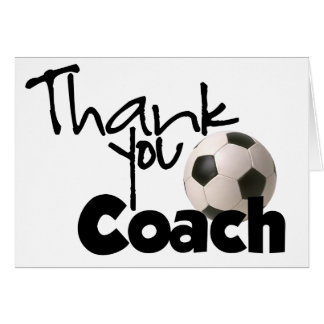 Thank You Coach, Soccer Card