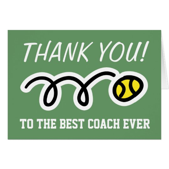 Thank you coach tennis greeting cards zazzle thank you coach tennis greeting cards m4hsunfo