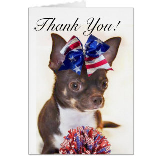 Thank you CoachCheerleader chihuahua greeting card