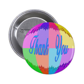 Thank You colorful 6 Cm Round Badge