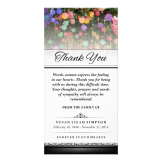 Thank You Colorful Flowers -Words Cannot Express Photo Card Template