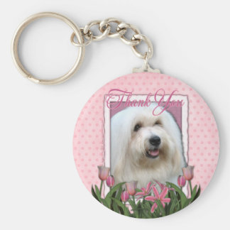 Thank You - Coton de Tulear Key Ring