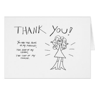 Thank You! Crazyhair Card - Color it Yourself
