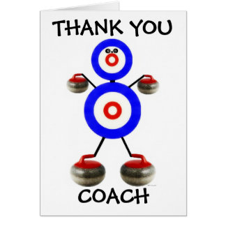 Thank You Curling Coach Card