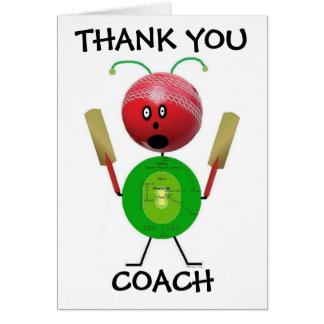 Thank You Curling Coach Greeting Card