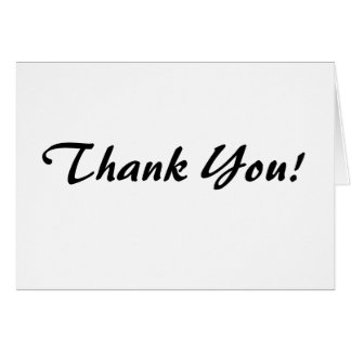 Thank You! Curve Script Note Card