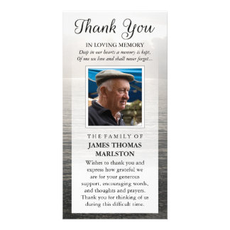 Thank You Custom Photo Sympathy - Peaceful Water Personalized Photo Card