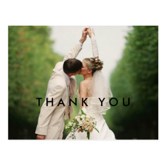 Thank You Custom Wedding Photo Postcards