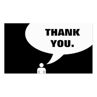 thank you. (customer loyalty) pack of standard business cards