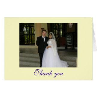 Thank you - customizable card