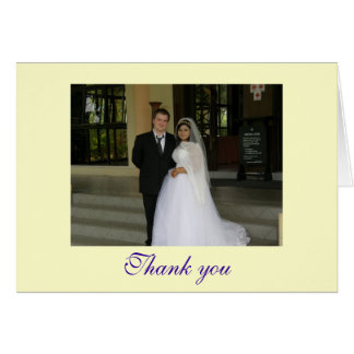 Thank you - customizable note card