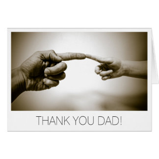 Thank you Dad Fathers Day Greeting Card