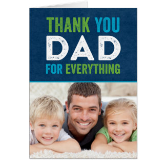 Thank You Dad Fathers Day Photo Card