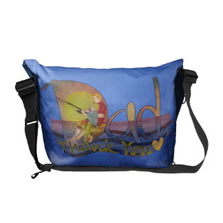 Thank you dad  fishing with son messenger bag
