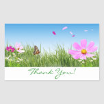 Thank You  Daisy Flower Garden Stickers