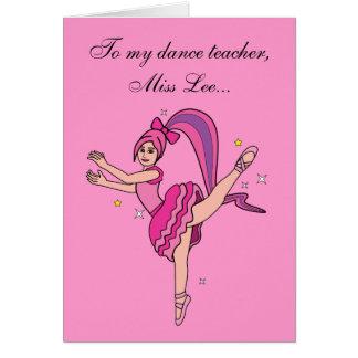 Thank You Dance Teacher Card: Customizable Greeting Card