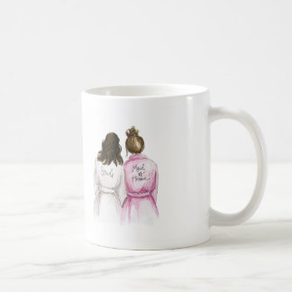 THANK YOU Dark Waves Bride Br Bun M of Honour Coffee Mug