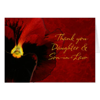 Thank you Daughter and Son-in-Law Greeting Card
