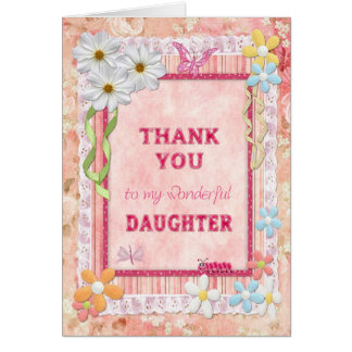 Thank you daughter, flowers craft card