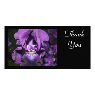 Thank You-Deep Purple Iris Photo Cards
