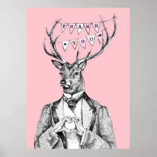 Thank-you deer poster