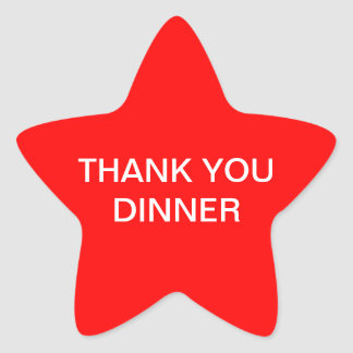 Thank you dinner sticker