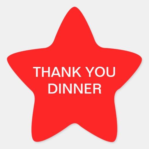 Thank you dinner sticker