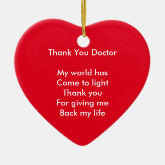 Thank you doctor christmas ornament