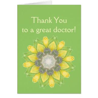 Thank You Doctor Custom Flower Garden Floral Greeting Card