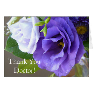 Thank You Doctor-Pretty Purple Floral Greeting Card