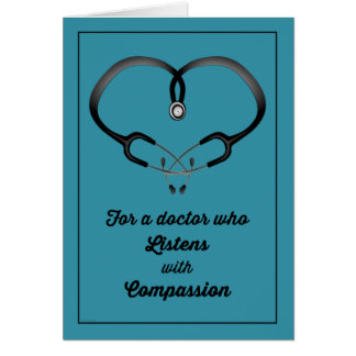 Thank You, Doctor Who Listens with Compassion Card