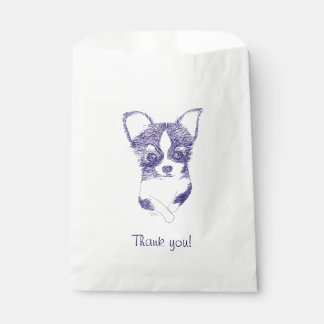 Thank you dog bag favour bags