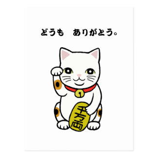 Thank you Domo Arigato Japanese Thank you Postcard