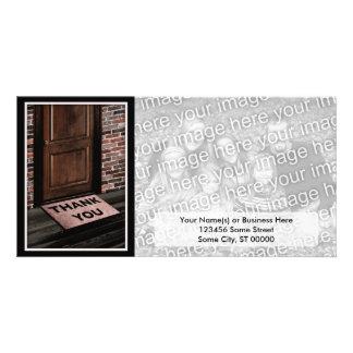 thank you door mat customized photo card