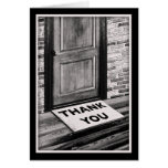 thank you door mat photograph note card