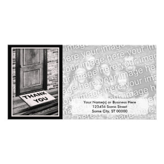 thank you door mat photograph picture card