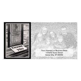 thank you door mat photograph picture card