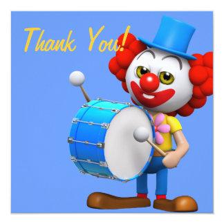 Thank You! Drummer Clown Thankyou Card
