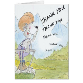 Thank You Echo - Funny Message Greeting Card