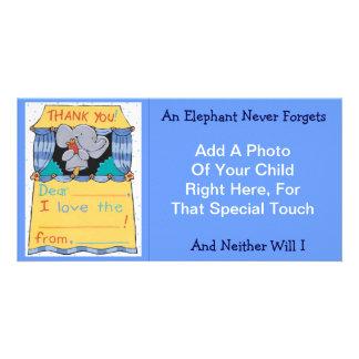 Thank You Elephant Photo Card