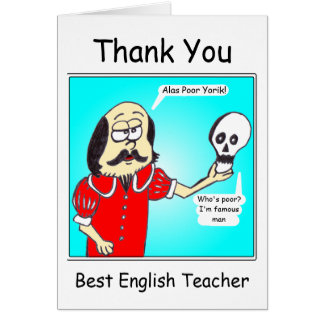 Thank you - English Teacher Greeting Card