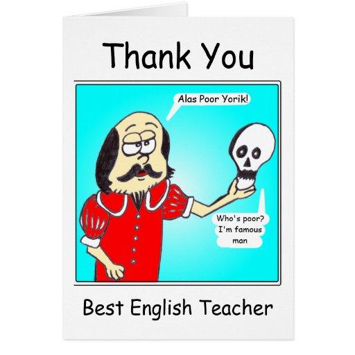 Thank you - English Teacher Cards